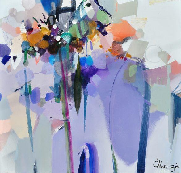 Pintura abstracta violeta